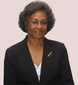 Wife of the Governor-General, Her Excellency, Rheima Hall.