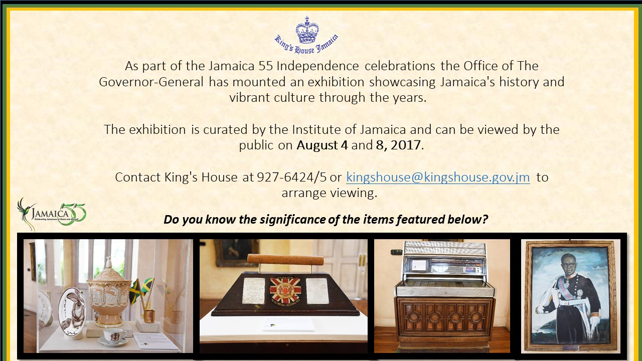 King's House Hosts Public Exhibition for Jamaica 55