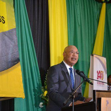 Governor-General Sir Patrick Allen addressing the 38th annual National Leadership Prayer Breakfast on Thursday (Jan 18).