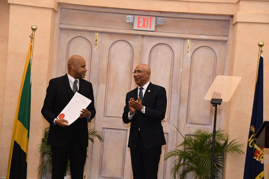 Swearing in of Chief Parish Court Judge