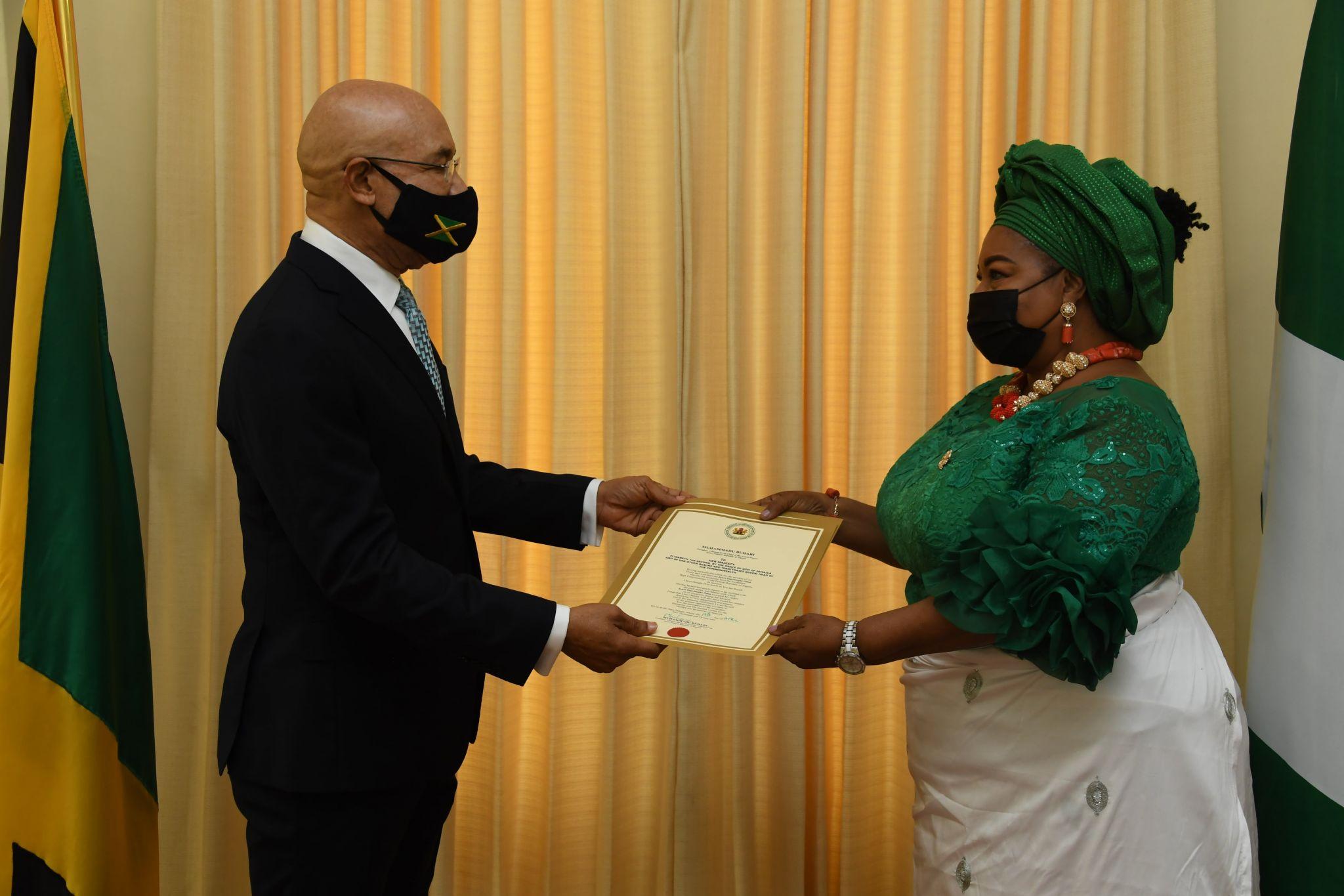 Nigerian High Commissioner Presents Credentials